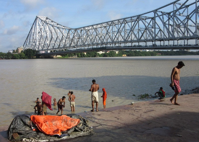 Howrah Bridge-2300 foot cantilever bridge