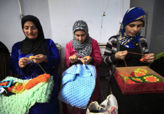 Syrian refugee Women at a camp in Turkey