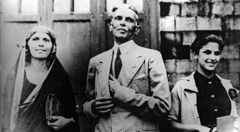 Mr. Jinnah with his family