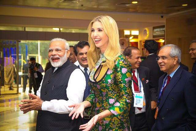 PM Modi and Ivanka Trump at GES Hyderabad 2017