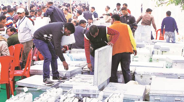 Counting in progress for Lucknow Mayoral Elections 2017