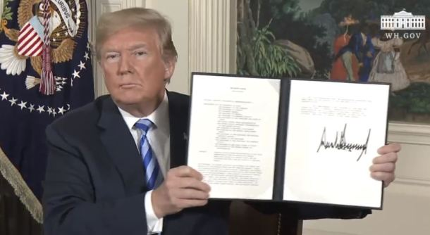 Record For US President: Tears Multilateral Deal Then Publicly Endorses Torture