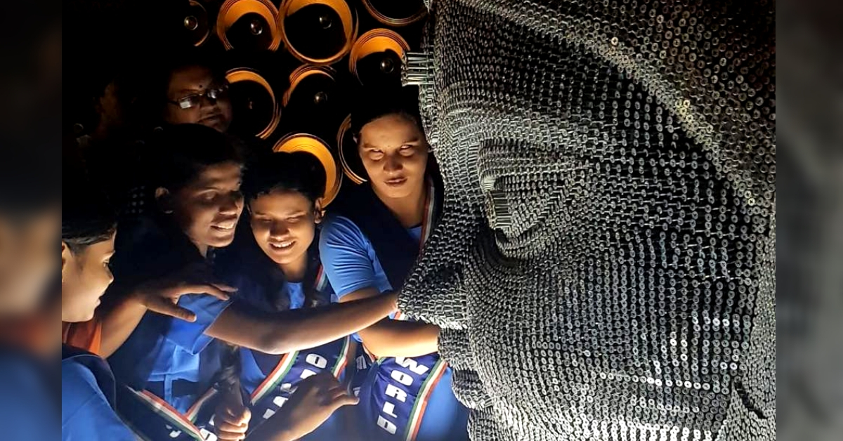 A Durga Puja pandal to touch, for the visually impaired